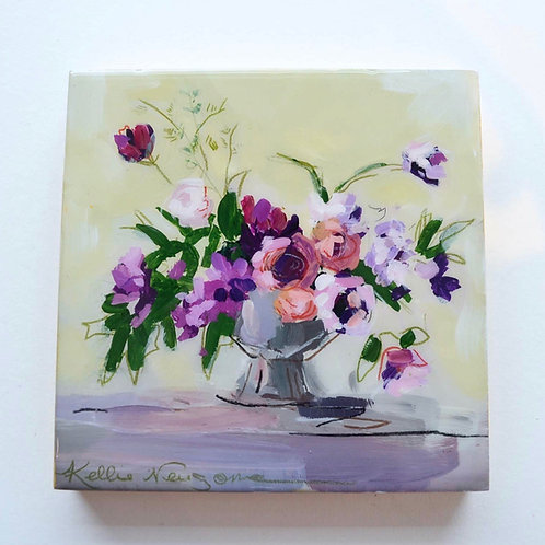 6x6, Bouquet on panel