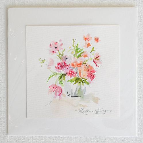 6x6, Watercolor Floral