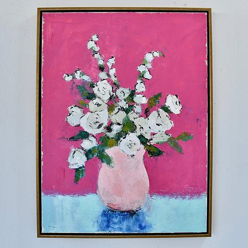 30x40, Pink Vase