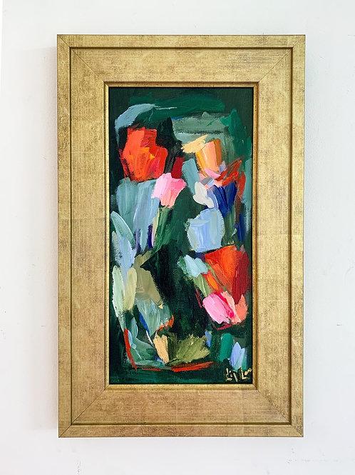 Late Summer Garden, 20.5x12.5 framed