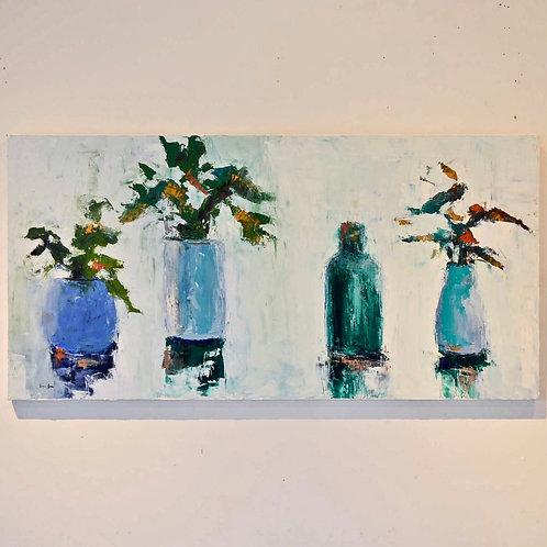 24x48, Four Vases