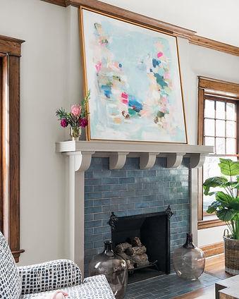 Liz Lane art original art work feautured in Tamara Day's Baragin Mansion on HGTV, she is the owner of Liz Lane Gallery an art gallery in Homeood, AL