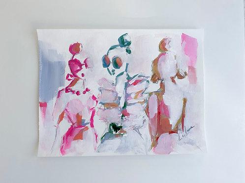 Gossip Girls,  (12x16 on paper)