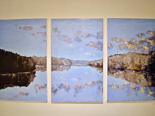 48x90, River Triptych