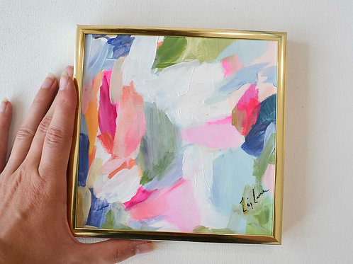 6x6 Framed Abstract- Naomi