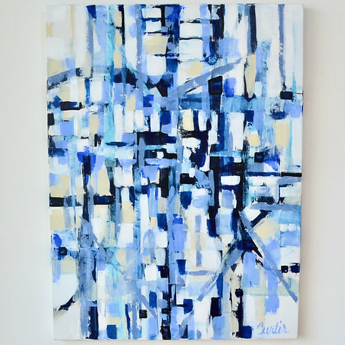 36x48, Abstract in Blue II