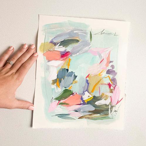 """""""Flower Market"""", 9x11, original work on pap"""
