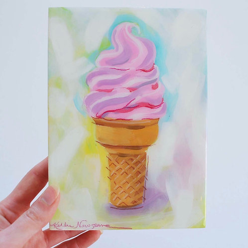 5x7, Ice cream on panel