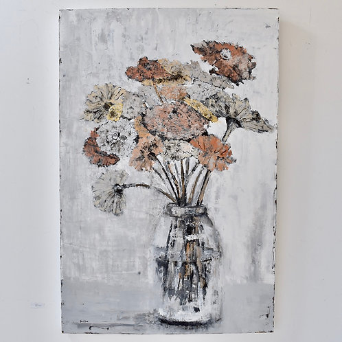 48x60, Coppertone Floral