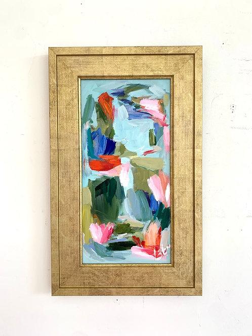 Red Birds, framed 20.5x12.5