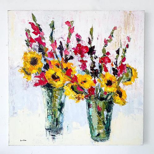 36x36, Sunflowers