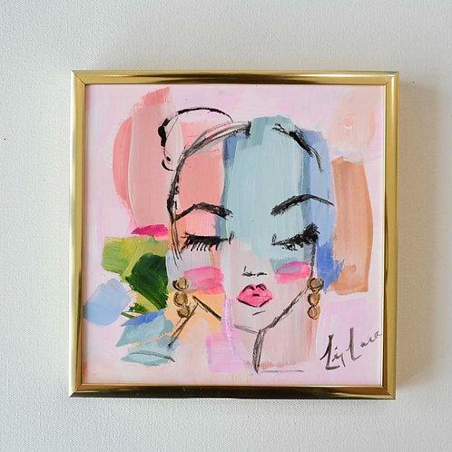 6x6 Framed Abstract- Samantha