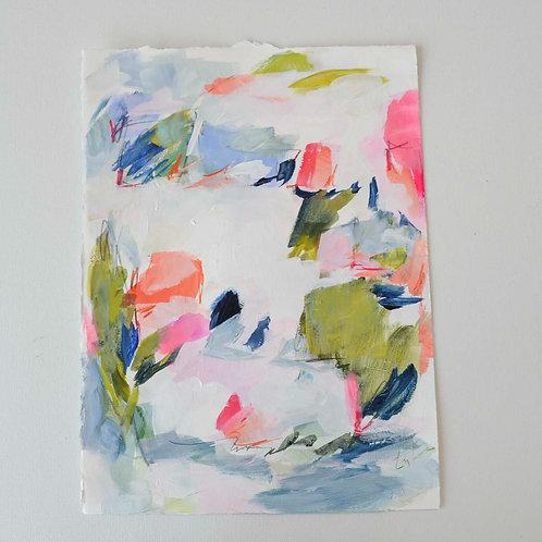 Bouquet Toss- 11.25x15 work on paper
