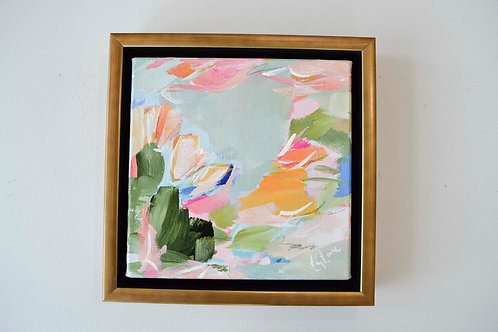 """Gardening Date"", 8x8, (9.75x9.75 framed)"