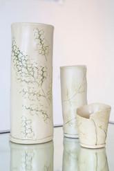 Sister Art Pottery l handbuilt botanical vase l Birmingham, AL l contemporary art gallery