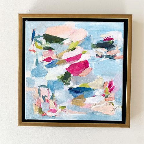 """The Amalfi Coast"" 13.5x13.5 framed"