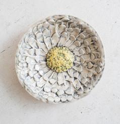 Sister Art Pottery l handbuilt flower ring dish l Birmingham, AL l contemporary art gallery