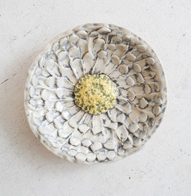 Sister Art Pottery l handbuilt flower ring dish l Birmingham, AL l contemporary art gallery