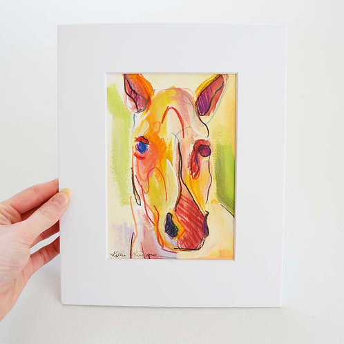 4.5x6.5 (8x10), Horse on paper