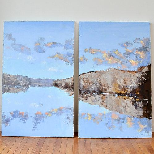 (2) 30x48, Lifting Clouds
