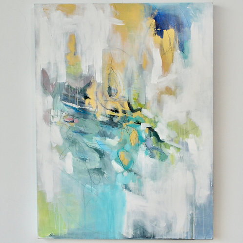 40x30, Abstract in Blue & Gold