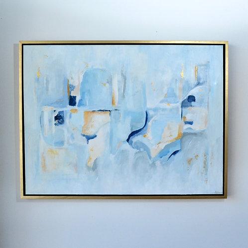 36x48 (38x50),  Blue Harmony