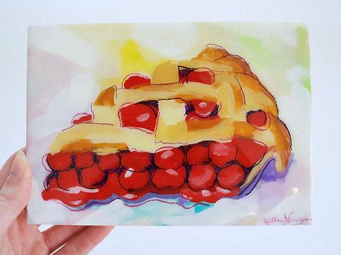 5x7, Pie on panel