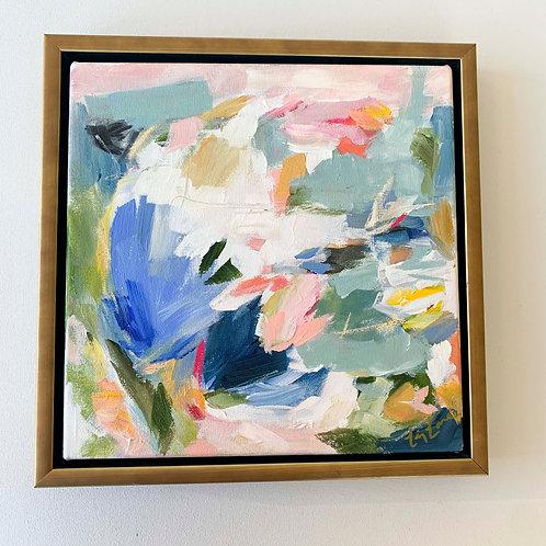 """Baby Blue Jay"" 12x12 (13.5x13.5 framed)"