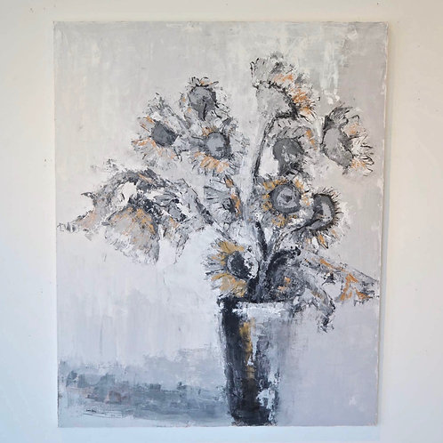 48x60, Floral on canvas