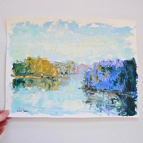 11x15, Landscape on paper