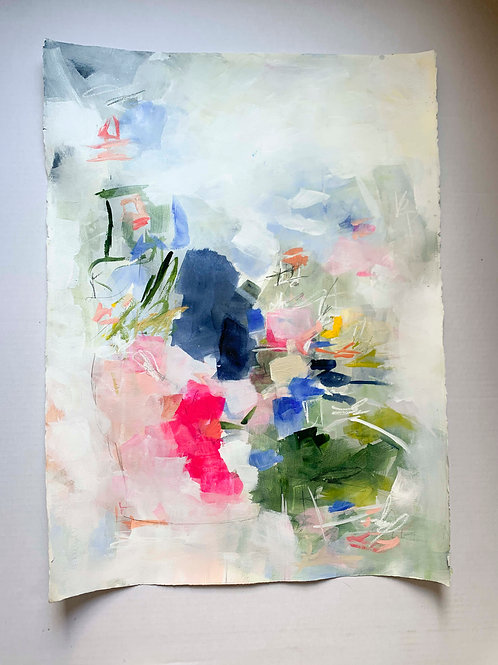 """Work on Paper- Abstract 22x30 """"Communication"""""""