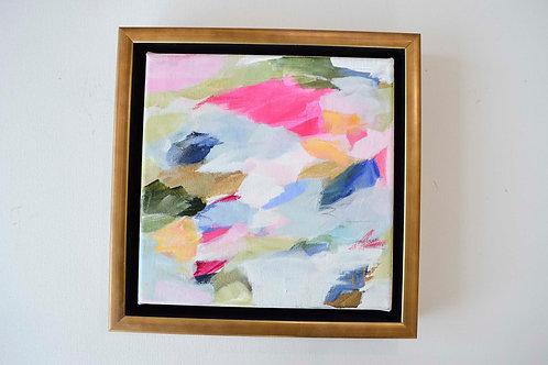 """Flush Cheeks"", 8x8, (9.75x9.75 framed)"