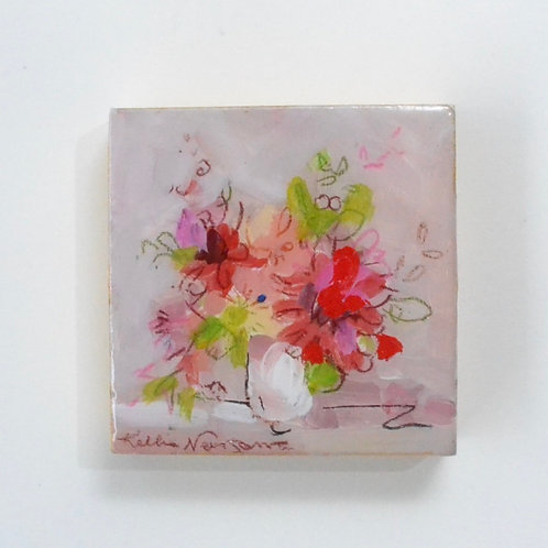 3x3, mini floral panel