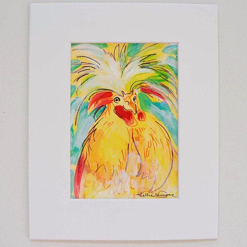 4.5x6.5 (8x10), Chicken on paper