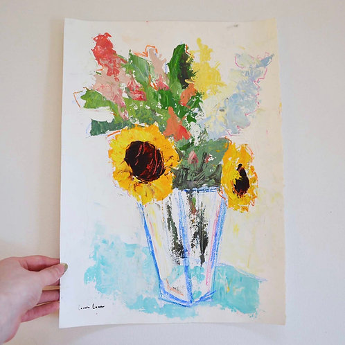 11x15, Floral on paper