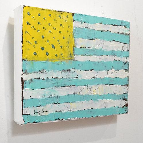 8x10, Flag in Blue Raspberry