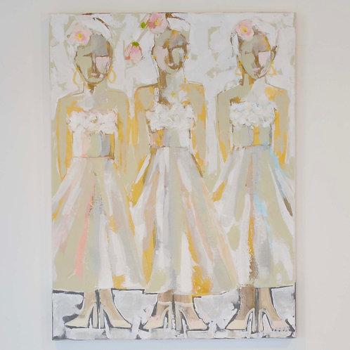 30x40, Three Ladies in Gold
