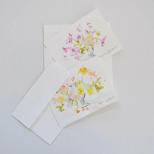 2-pack (5x7), Floral cards
