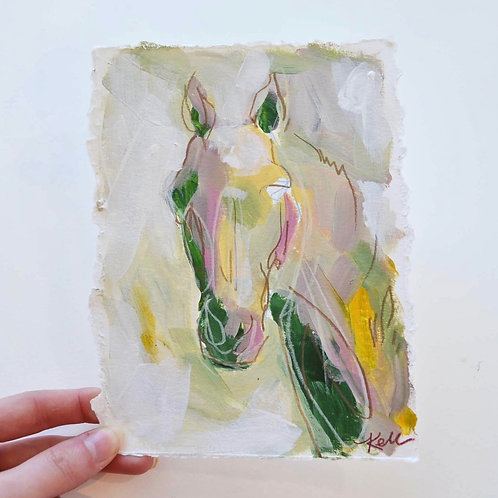 5x7, Horse on paper