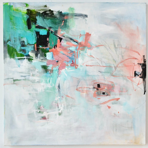30x30, Abstract in Pink & Green