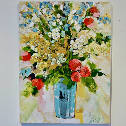 30x40, Floral on canvas