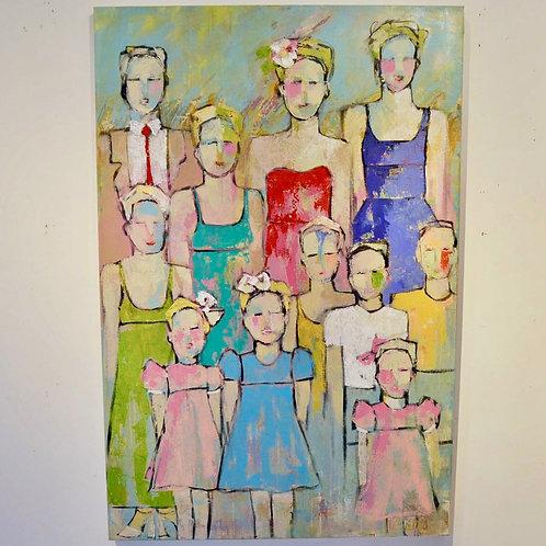 40x60, Figures on canvas