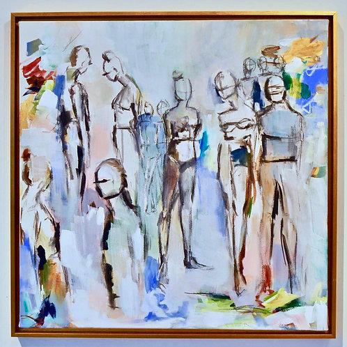 30x30 (31.5x31.5 framed), The Bathers