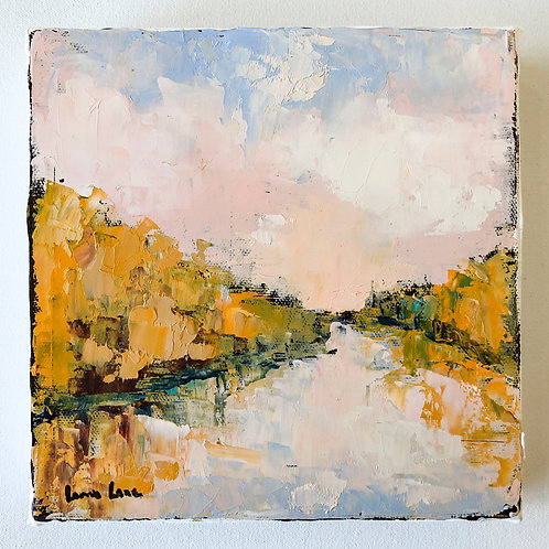 Abstract Landscape on Canvas, 8x8