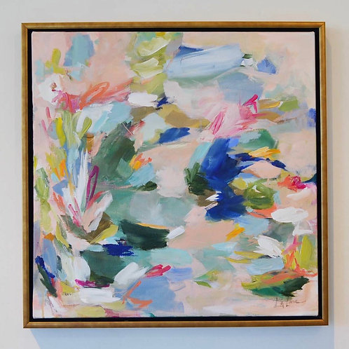 """""""Lillies in the Sky with Diamonds"""" 24x24 (25.75x25.75 framed)"""