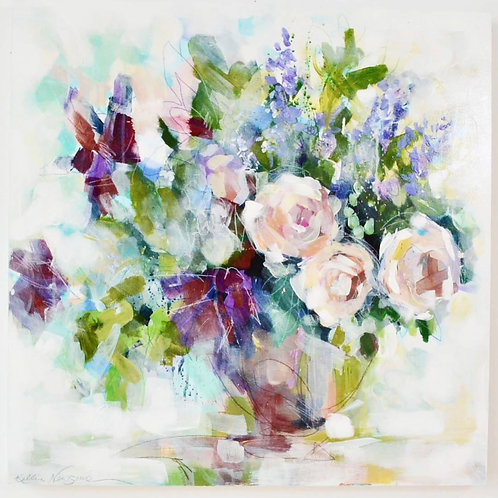 24x24, Bouquet on panel