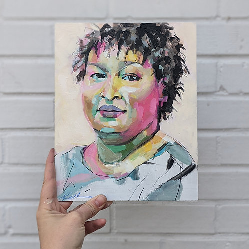 8x10 print, Stacey Abrams