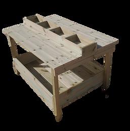 שולחן נגרות לגן