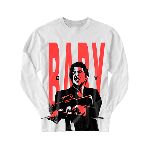 Crybaby Scarface AR Long Sleeve T-Shirt