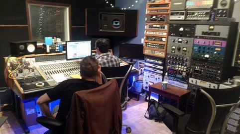 Final mixing at Zippah Studios in Boston with the infamous Brian Charles.   (lots of blinky lights!!)